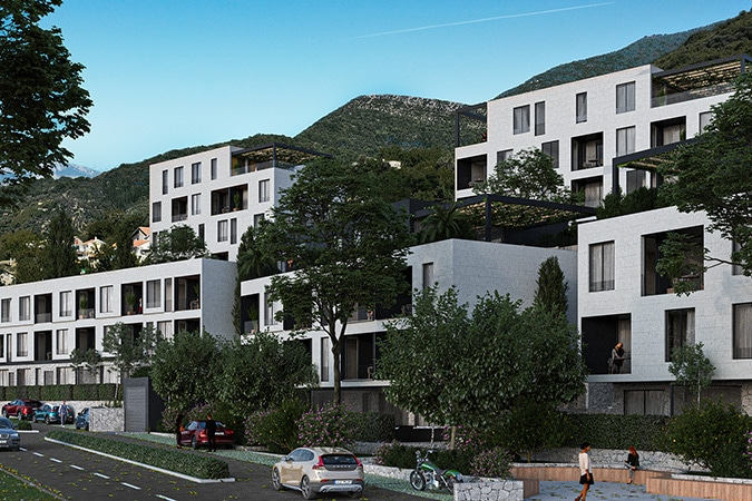 Golden Group's new project residential complex in Tivat